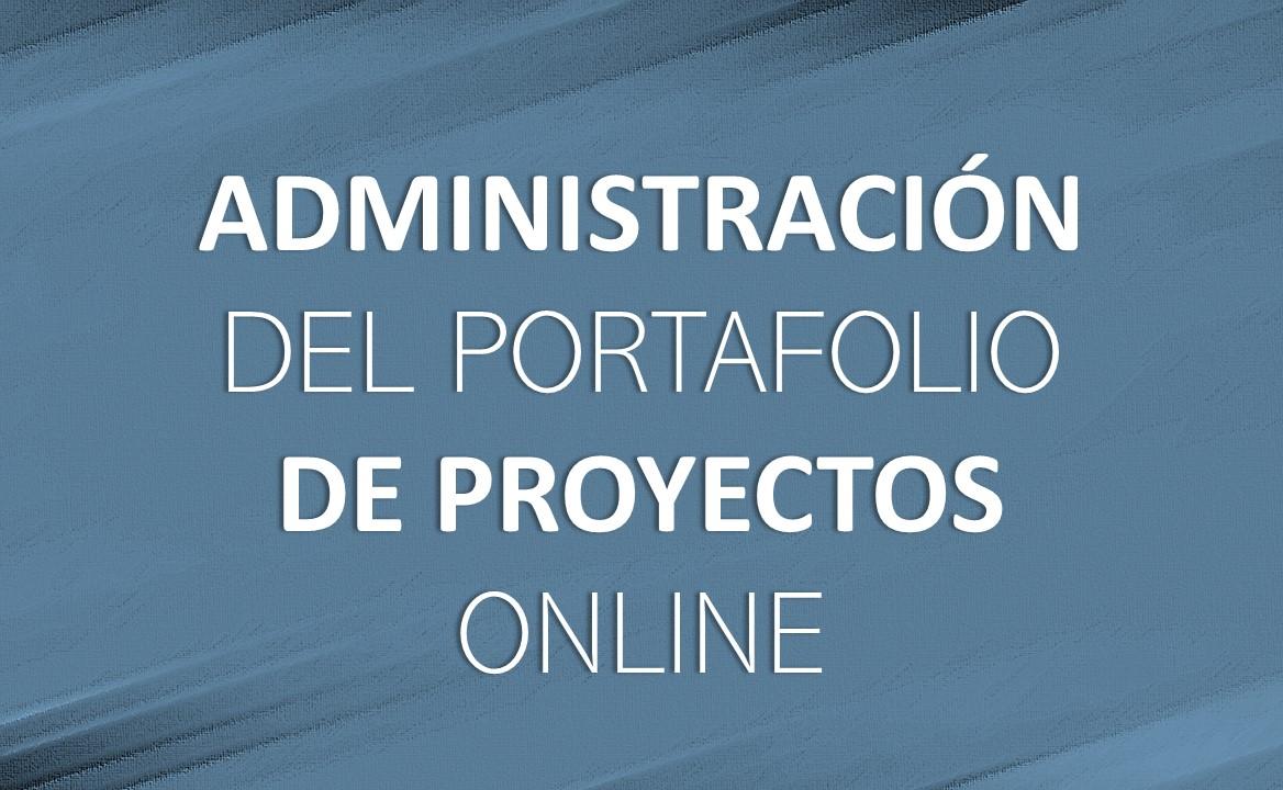 admin portafolio de proyectos online