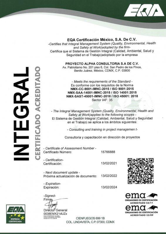 Certificado SGI